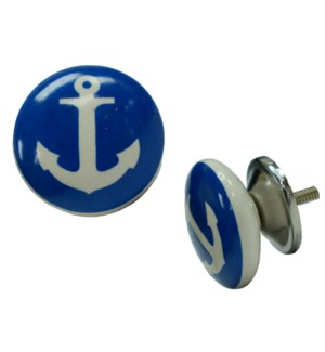 """Anchor Ball Knob, Ceramic"""