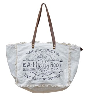 Market Tote Bag, cotton 17x7x13
