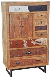 Wooden Multidrawer Chest, 31.5x16.5x53.2 inches