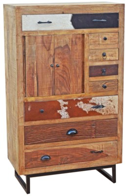 Wooden Multidrawer Chest, 31.5x16.5x53.2 inches