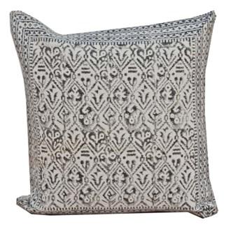 Sheena Diamond Pattern Cushion, Grey & White 19x19