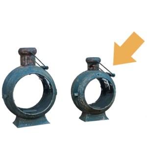 Round Lantern Small Blue/Gry