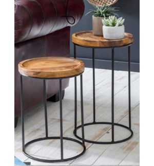 """WOODEN SIDE TABLE, OS"""