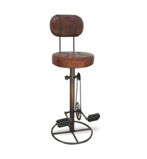 Bicycle Peddle Backrest Stool w/ Foot Rest 17x17x46  On sale 25 percent off!