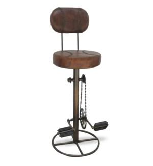Bicycle Peddle Stool w/Back OS