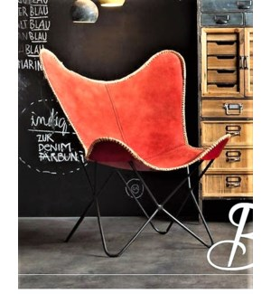 """""""Butterfly Chair, Red Denim LC"""""""