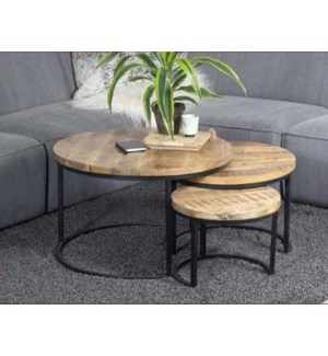 """""""Hillary Round Nesting Tables,"""""""