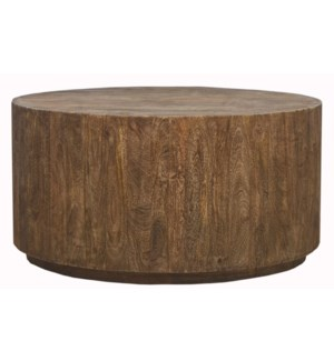 Paul Round Coffee Table, Mango wood, 37x37x19 Inch