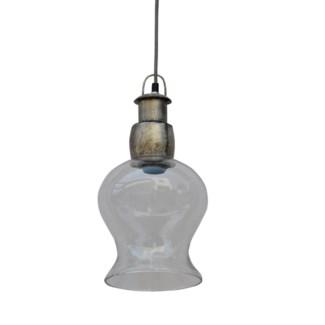 Glass Rose Pendant Light 8x7.9x15in.