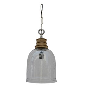 Glass Tulip Pendant Light 10x10.2x18in.