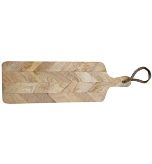 Chevron Cutting Board Large, Mango Wood, 7.8x0.7x22 Inch