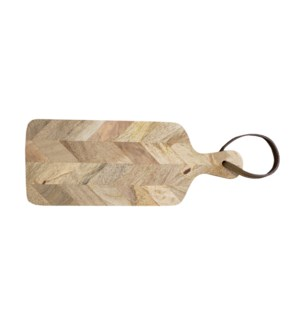 Geometric Cutting Board, Mango Wood 5.9X0.8X15 Inch