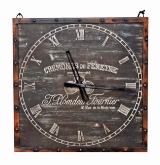 Rustic Bicyclette Clock, 19x1x19 inches