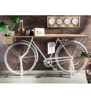"""""""Euro Bicycle Console Table, Wt"""""""
