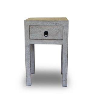 Spring Bay Nightstand, Mango wood, 13.8x13.8x21.6 Inch