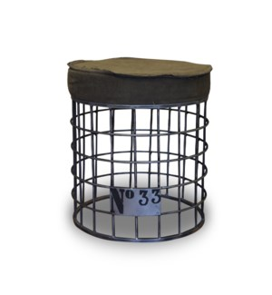 Iron Wire Frame Stool, 15.7X15.7X18 Inch