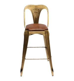 """Gatsby High Chair, Gold & Bro"""