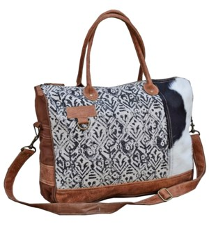 Lindsay Cow Hide Messenger Bag