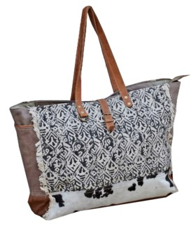 Amy Cow Hide Tote Bag 19x8x16