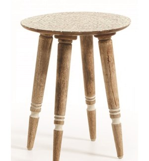 Anthea Wood Stool, Mango Wood, 15X15X18 Inch