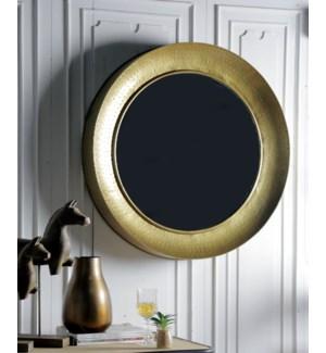 """Iron Mirror Frame, Brass Finish"""