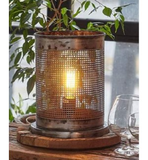 """Locarno Driftwood Lamp, Iron, Black/Natural"""