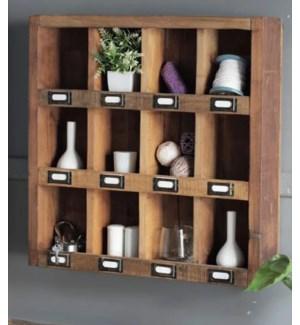 """""""Lex 12 Cubby Wall Organizer, Wood"""""""