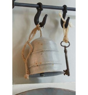 """""""Country Distressed Bell, Iron, Grey"""""""