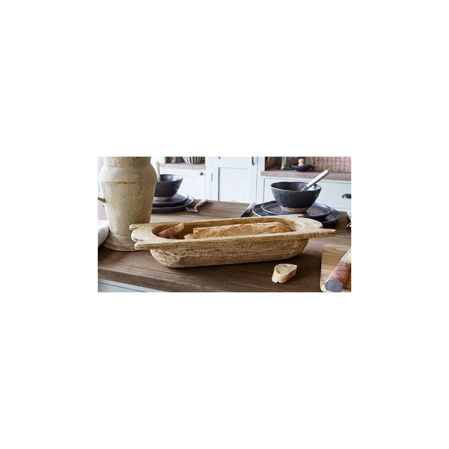 """Old World Dough Bowl Set/2, Mango Wood, Natural"""