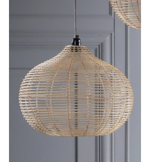 """""""Rattan Caned Ceiling Lamp, Hand Woven"""""""