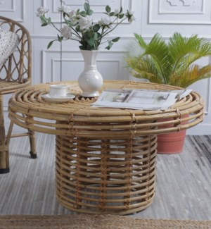 """""""Wicker Garden Coffee Table, Large, Handcrafted"""""""