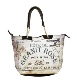 Granit Rose Handbag , Canvas
