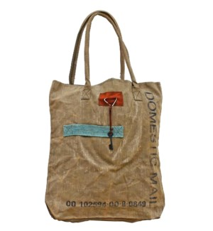 Mail Tote Handbag, Canvas  LAST CHANCE!