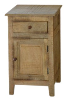 Whistler Nightstand, Mango wood, 15.7x15.7x25.5 Inch