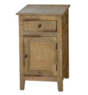 Whistler Nightstand, Mango wood, 15.7x15.7x25.5 Inch