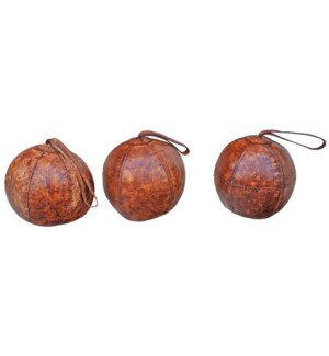 Leather Ball Door Stopper, 8x8x8 inches LAST CHANCE!