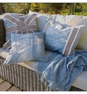 Cushion Set/3 Blue 19.50x19.50 15.74x15.74 19.68x15.74inch *Last Chance!*