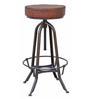 """""""Industrial Bar Stool, Leather"""""""
