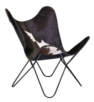 Butterfly Chair cowhide black