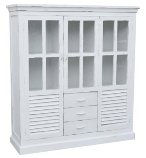"""Agatha SideBoard Cabinet, Mangowood, White 57x17.7x63in. On Sale 25 percent off original price"""