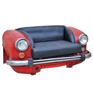 """Auto Full Love Seat, Black/Red"""