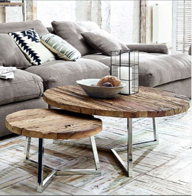 Hilda Nesting Coffee Table, Set/2 Small 23.5x.23.5x34, Large