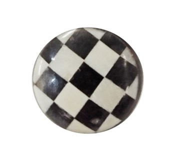 Checker Pull, Black/White