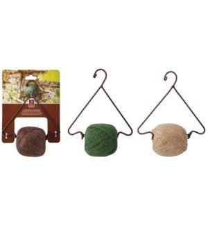 Hanging string dispenser. Cast iron, natural jute twine. 18,7x9,6x24,0cm. oq/6,mc/24 - FD