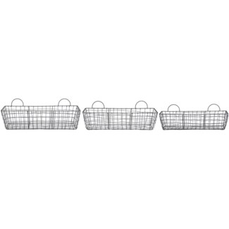 Wire basket long set/3 - 20.8x5.3x5.3in.