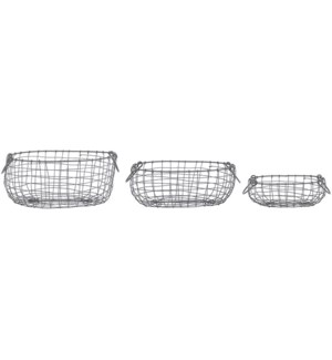 Wire basket oval set/3 S