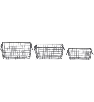 Wire basket rectang set/3