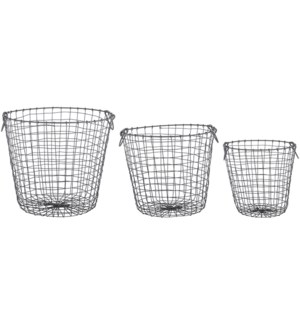 Wire basket round set/3 L