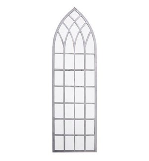 Church window mirror 140cm. Metal,glass. 40,5x2,6x140,0cm. oq/2,mc/1 Pg.59