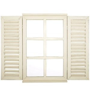 Mirror window with doors - 15.5x1.75x23.5 inches